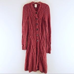 Anthropologie Far Away Cardigan Duster Sweater S